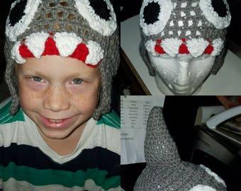 Shark Hat Crochet, Child hat