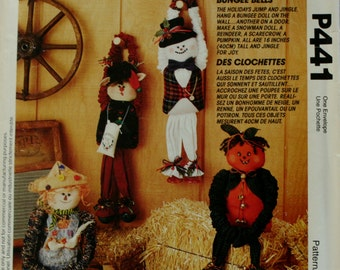 McCall's P441 Bungee Holidays Dolls Sewing Pattern New/Uncut