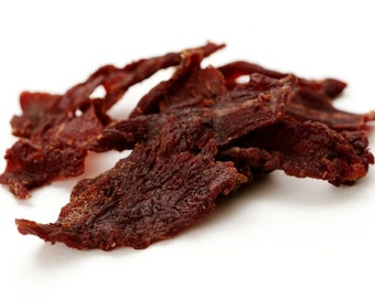 1 lb pound of freshly made beef jerky - I only use eye of round