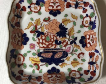 """Andrea by Sadek Trinket Dish in the Classic Imari Style 4-3/4"""" made for Smithsonian"""