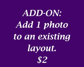 Add a photo to an existing layout