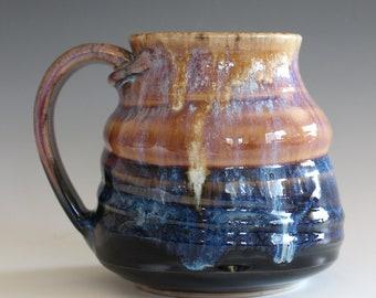 Handmade Coffee Mug, 16 oz, Ceramic Coffee Mug, handthrown ceramic mug, stoneware pottery mug, unique coffee mug