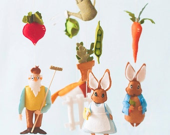 Peter Rabbit Mobile No.3-Mother Rabbit- Story Mobile by A Continual Lullaby