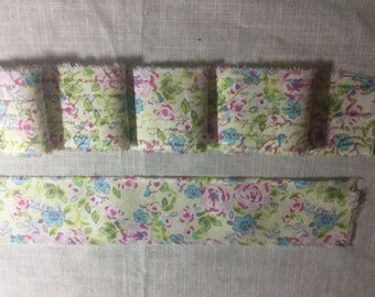 Distressed Ribbon, French Inspired Ribbon, Water Color Flower Ribbon, Floral Ribbon Trim, Vintage Inspire Ribbon, Flower Ticking Trim Ribbon