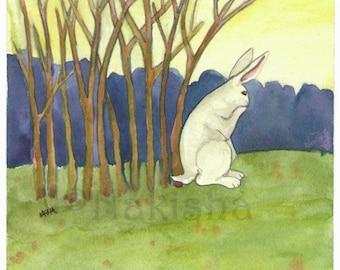 The Rabbit Tarot - Original Art  - Ten of Sticks