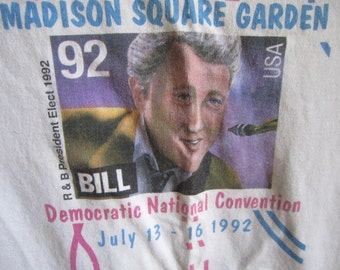 Bill Clinton Tee Shirt. Democratic National Convention Madison Square Garden July 1992. Memorabilia. Clinton President Elect