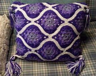 PATTERN Marrakech Tiles Morracan pillow Crochet  picture tutorial with instructions  Step by step 17 pages 50 plus pictures