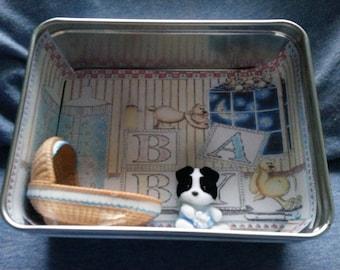 Baby Boy Mini Shadow Box