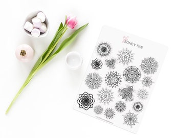 Mandala Madness Stickerset-Handmade stickers-pretty planning-scrapbooking-bullet journaling