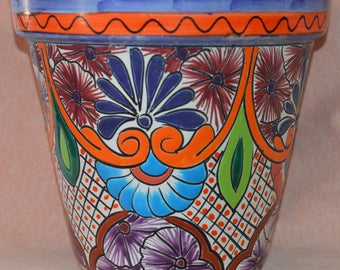 Talavera pot colorful