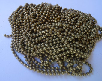 8M Ball Chain Smooth Bronze 2mm Dia. - CHN27