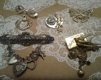 Collection of Romantic Victorian Revival Brooches, Mostly Nineties, Choose One