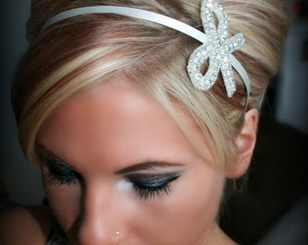 Always A Bridesmaid Headband, bridal headband, wedding, Flower Girl, Bridesmaid, rhinestone headband, accessories