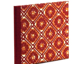 Beautiful Nauli CD Case with Italian Paper in red and orange batik pattern