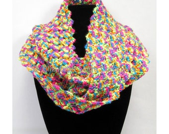 Shell Stitch Infinity Scarf, Paints, 5 inches x 60 inches, 12 colors available