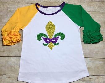 Mardi Gras Shirts/Fleurdelis/PurpleGreenandGold/New Orleans Mardi Gras
