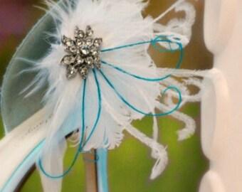 SALE Wedding Shoe Clips White / Ivory / Black Feathers Rhinestone Crystal. Bride Bridal Bridesmaid, Lush Edgy Shabby Chic, Stylish Statement