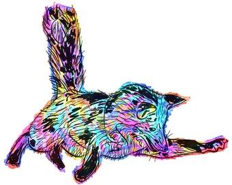 "Fox(4) Giclée Print - Cavanata - 8"" X 10"" Fox Graphic Fine Art Print, Original Illustration, Animal Art"