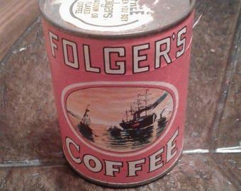 Vintage unopened folgers coffee puzzle