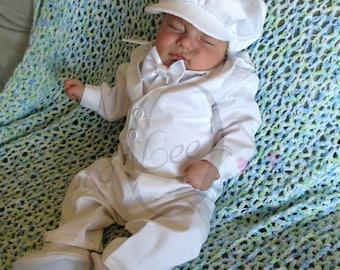Boys Christening Outfit / Boys Christening Suit / Boys Baptism Suit / Boys Blessing Romper / Boys Naming Suit / Boys Suit / Boys Romper