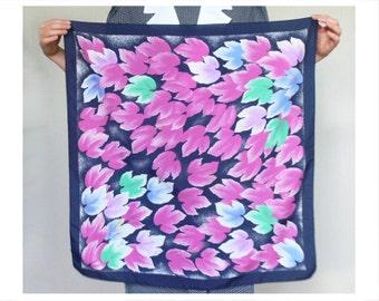 Floral shawl blue purple