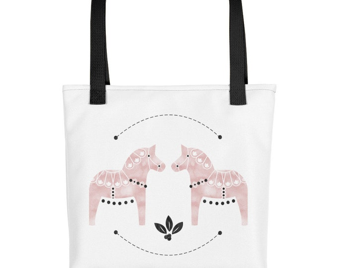 Dala Horse Watercolor Tote bag