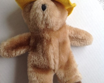 Paddington bear stuffed animal London England 1975 1982 Yellow hat bear