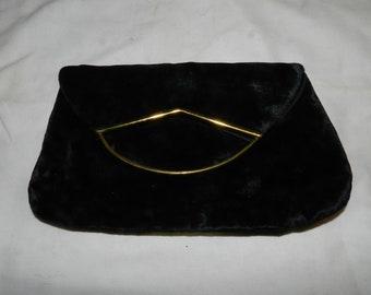 Black Velvet Clutch / Evening Bag                                                               26-53