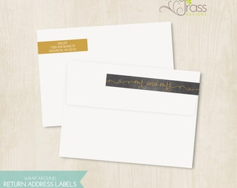 DIY printable wrap around return address labels - mr and mrs