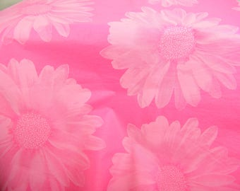 Tissue Paper Sheets - Huge Flower Print on Hot Pink- Flower Pattern Print Tissue - Gift Wrap Paper Craft Tissue - Supplies - 10 sheets