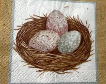 Nest and egg napkin