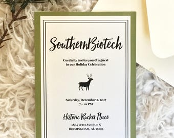 Reindeer Holiday Party Invitation