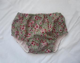 Covers diaper bloomer panties flowers girl baby girl cotton