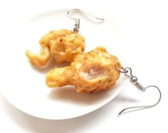 Fried chicken earring | Food earring | Food Jewelry | Miniature Foods | Thai Foods | Gift | Earring Cute