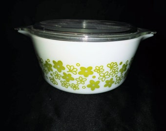 Vintage Pyrex Crazy Daisy Spring Blossom Casserole Dish Bakeware