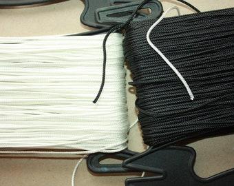 2 mm WHITE  Braided Cord POLYESTER HT = 1 Spool = 55 Yards = 50 Meters Elegant Rope - White - Decorative Rope - Macrame Rope - Macrame Cord