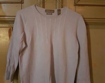 Pale light blue cashmere sweater