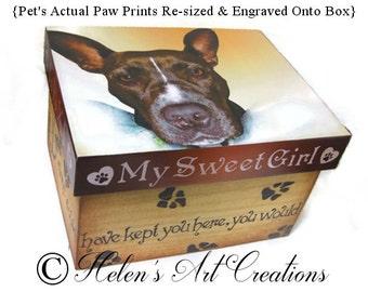 Pet Urn Extra Large, Pet Memorial Box, Pet Keepsake Box, Wood Urn, Personalized Keepsake Box, Photo Memorial Box, Pet Box, Dog Memorial Box