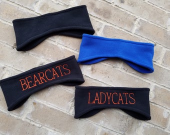 Personalized Fleece Headband Earwarmer