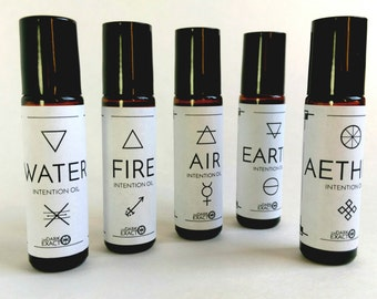 Intention Oils: Elemental Blends (Air/Water/Earth/Fire/Aether)