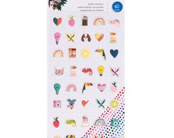 Shimelle Box of Crayons Puffy Stickers  -- MSRP 4.00
