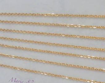 2.2 mm gold plated chain - Base stainless steel