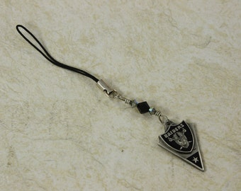 SALE Crystal Cell Phone Charm, Black and White Charm