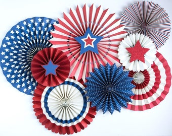 Stars and Stripes Patriotic Paper Party Lollies