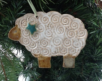 Ornament Christmas Holiday Sheep Lamb Peace