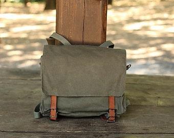 Vintage Military backpack Yugoslav Army 80. Student bag