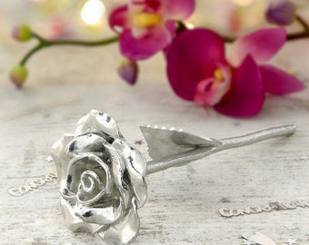 Third Wedding Anniversary Everlasting Rose - Third Anniversary Gift Tag - The Rose That Never Dies Just Like Your Love