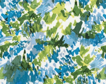 Blue and Green Abstract Fabric, Ramble & Roost Y1741-89 Clothworks Organic, Betsy Olmsted, Abstract Quilt Fabric, Organic Cotton