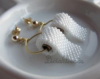 Toilet Paper earrings on gold or sterling silver stud post earrings