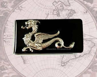 Dragon Money Clip Inlaid in Hand Painted Enamel Game of Thrones Inspired Custom Colors and Personalized Options Available